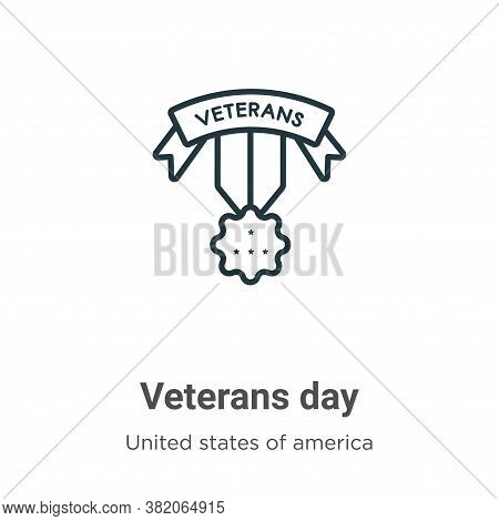 Veterans day icon isolated on white background from united states of america collection. Veterans da