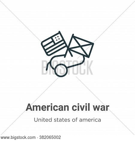 American Civil War Icon From United States Of America Collection Isolated On White Background.