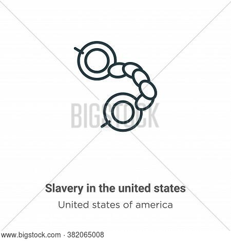 Slavery in the united states icon isolated on white background from united states of america collect