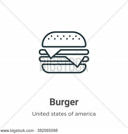 Burger icon isolated on white background from united states collection. Burger icon trendy and moder