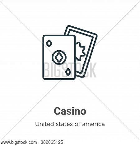 Casino icon isolated on white background from united states collection. Casino icon trendy and moder