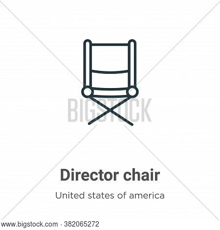 Director chair icon isolated on white background from united states collection. Director chair icon