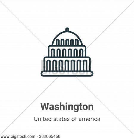 Washington icon isolated on white background from united states collection. Washington icon trendy a