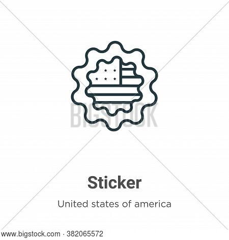 Sticker icon isolated on white background from united states collection. Sticker icon trendy and mod
