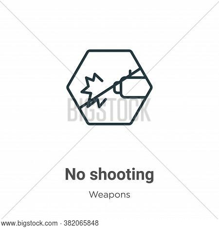 No shooting icon isolated on white background from weapons collection. No shooting icon trendy and m