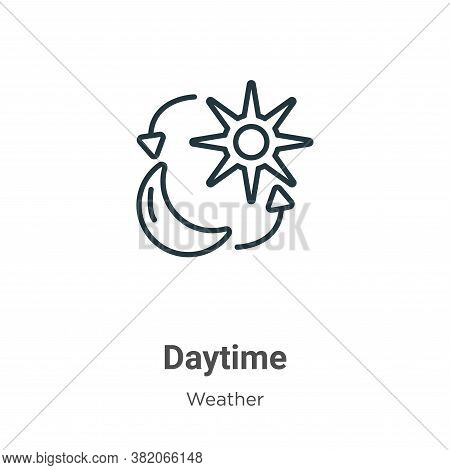 Daytime icon isolated on white background from weather collection. Daytime icon trendy and modern Da