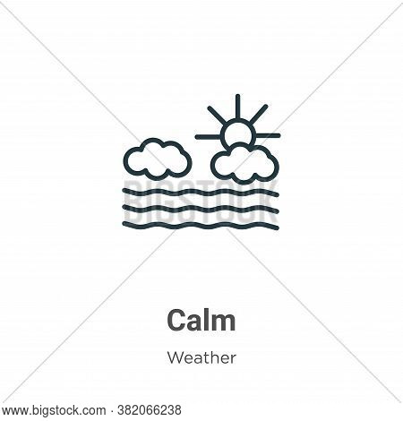 Calm icon isolated on white background from weather collection. Calm icon trendy and modern Calm sym