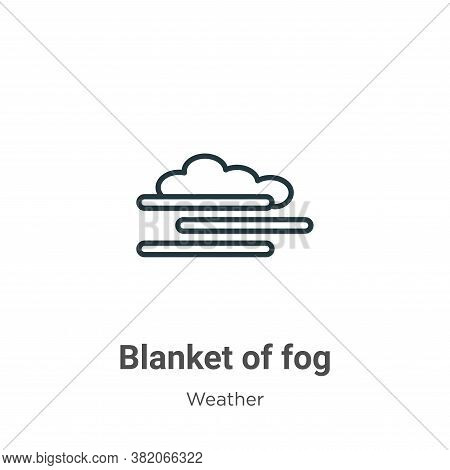 Blanket of fog icon isolated on white background from weather collection. Blanket of fog icon trendy