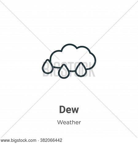 Dew icon isolated on white background from weather collection. Dew icon trendy and modern Dew symbol