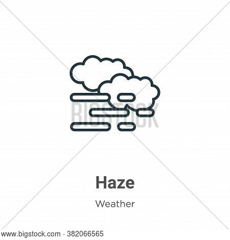 Haze icon isolated on white background from weather collection. Haze icon trendy and modern Haze sym
