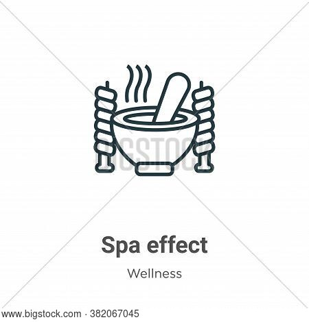 Spa effect icon isolated on white background from wellness collection. Spa effect icon trendy and mo