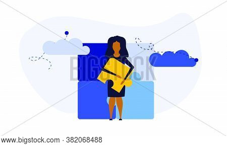Puzzle Team Work Vector Illustration Concept Partner. Partnership Teamwork Business People Collabora