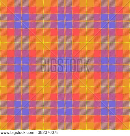Scottish Plaid, Tartan Seamless Pattern. Tartan Plaid Design. Checkered Geometric Pattern In Scottis