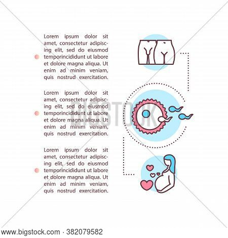 Reproduction Concept Icon With Text. Sexual Education Ppt Page Vector Template. Pregnancy And Childb