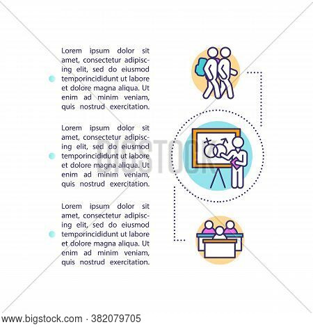Sexual Education In Schools Concept Icon With Text. Teaching Kids About Human Physiology And Sexuali