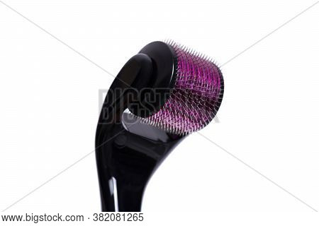 Derma Roller Isolated On A White Background. The Device For Cosmetic Procedures Of Mesotherapy.