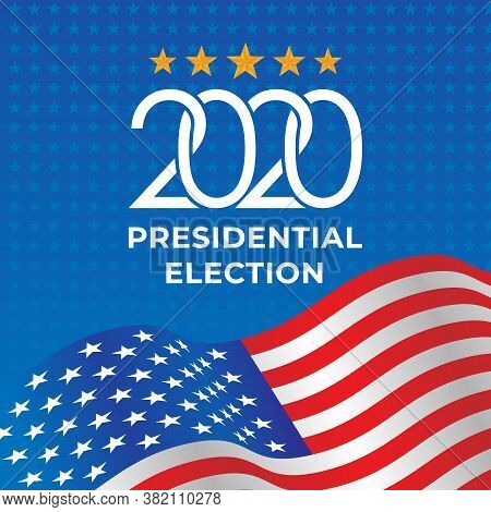 United States of America Presidential Election 2020 Vector illustration. USA Presidential Election 2020 Vector banner background design. 2020 United States of America Presidential Election vector background design. 2020 US Presidential Election