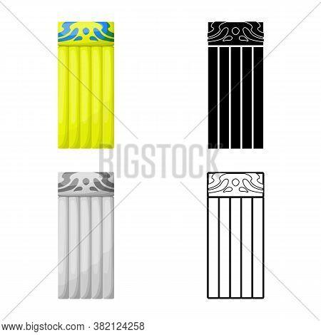 Isolated Object Of Mattress And Mat Icon. Graphic Of Mattress And Equipment Stock Vector Illustratio