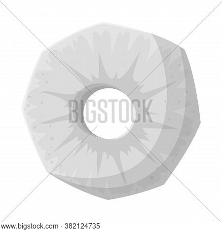 Isolated Object Of Slice And Ananas Sign. Web Element Of Slice And Round Stock Vector Illustration.