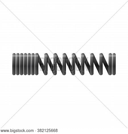 Vector Illustration Of Coil And Metal Icon. Web Element Of Coil And Steel Stock Symbol For Web.