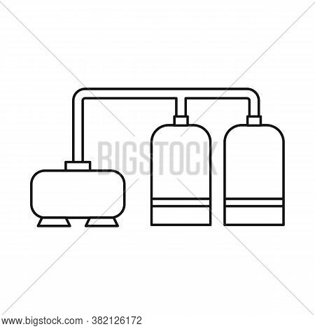 Vector Illustration Of Manufactory And Refinery Icon. Set Of Manufactory And Steel Vector Icon For S