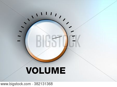 Shiny Volume Knob And Background With Copy Space For Your Text - Vector Illustration