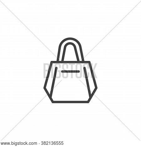 Women Handbag Line Icon. Linear Style Sign For Mobile Concept And Web Design. Women Bag Purse Outlin