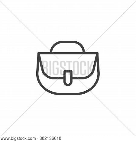 Women Handbag Line Icon. Linear Style Sign For Mobile Concept And Web Design. Purse Handbag, Bag Out