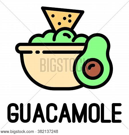 Guacamole Icon. Outline Guacamole Vector Icon For Web Design Isolated On White Background