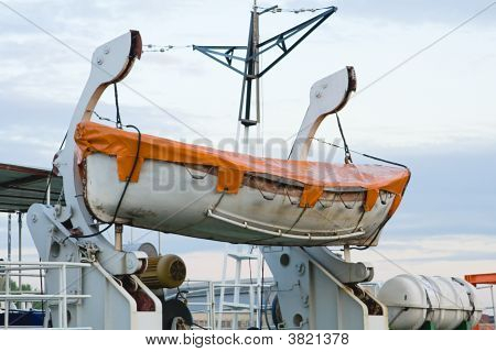 Rescue Boat On The Winch
