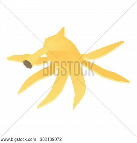 Banana Peel Icon. Isometric Of Banana Peel Vector Icon For Web Design Isolated On White Background