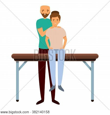 Back Masseur Icon. Cartoon Of Back Masseur Vector Icon For Web Design Isolated On White Background