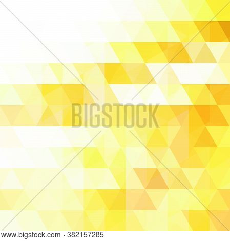 Yellow Riangle Vector Background. Can Be Used In Cover Design, Book Design, Website Background. Vect