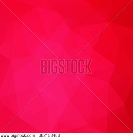 Background Of Red, Pink Geometric Shapes. Mosaic Pattern. Vector Eps 10. Vector Illustration