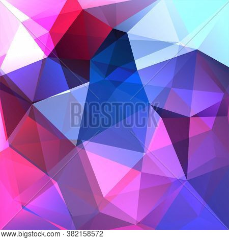 Background Of Pink, Blue, Purple Geometric Shapes. Mosaic Pattern. Vector Eps 10. Vector Illustratio