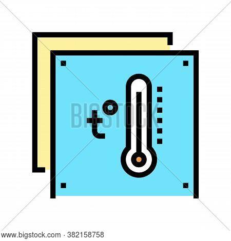 Temperature Preserving Layer Color Icon Vector. Temperature Preserving Layer Sign. Isolated Symbol I