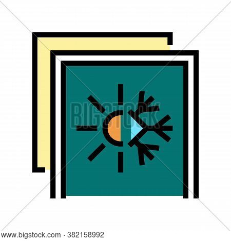 Summer And Winter Insulation Layer Color Icon Vector. Summer And Winter Insulation Layer Sign. Isola