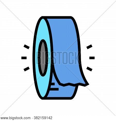 Insulation Roll Color Icon Vector. Insulation Roll Sign. Isolated Symbol Illustration