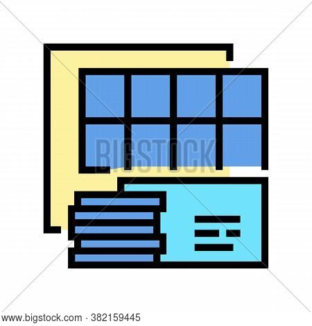 Insulation Panels Color Icon Vector. Insulation Panels Sign. Isolated Symbol Illustration