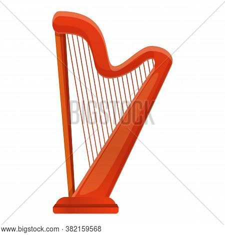 Harp Irish Icon. Cartoon Of Harp Irish Vector Icon For Web Design Isolated On White Background