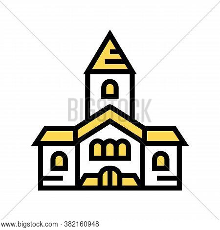 Church Building Color Icon Vector. Church Building Sign. Isolated Symbol Illustration