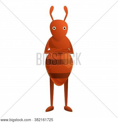 Ant Icon. Cartoon Of Ant Vector Icon For Web Design Isolated On White Background