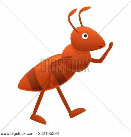 Ant Comic Icon. Cartoon Of Ant Comic Vector Icon For Web Design Isolated On White Background