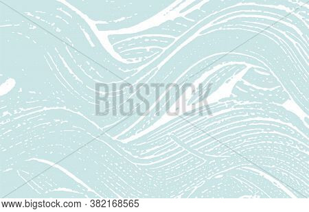 Grunge Texture. Distress Blue Rough Trace. Curious Background. Noise Dirty Grunge Texture. Energetic