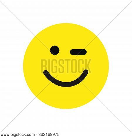 Happy Smile Icon Isolated On White Background. Happy Smile Face Icon In Trendy Design Style. Happy S