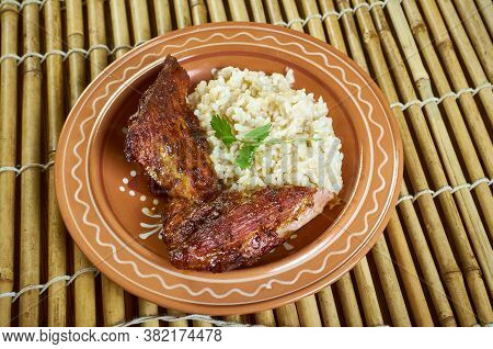 Mexican Rice With Chipotle Pork