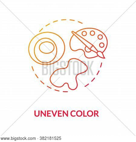 Uneven Color Concept Icon. Warning Signs. Abcdes Of Melanoma. Atypical Moles. Dermatology. Skin Canc