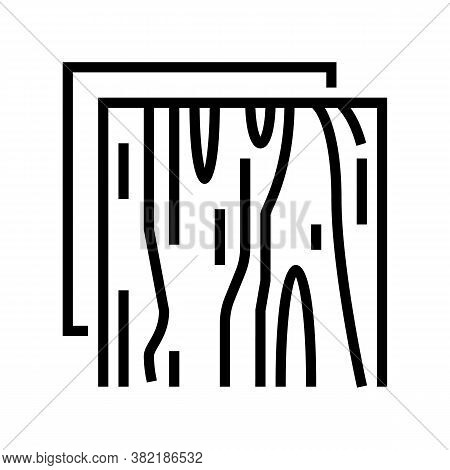 Wooden Insulation Layer Line Icon Vector. Wooden Insulation Layer Sign. Isolated Contour Symbol Blac