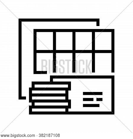 Insulation Panels Line Icon Vector. Insulation Panels Sign. Isolated Contour Symbol Black Illustrati