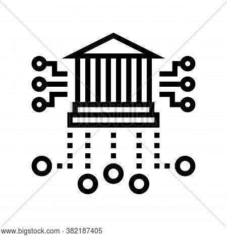 Financial Building Characteristics Line Icon Vector. Financial Building Characteristics Sign. Isolat